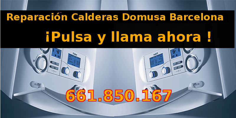 reparacion calderas domusa barcelona